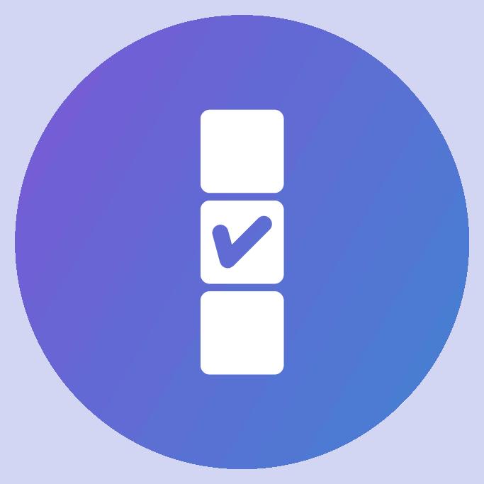 Perk brands icon checklist - perk brands
